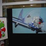 """die Moderne! Links: Grundfarben in 3D von Axel Badstübner; rechts """"american style"""", nachempfunden von Andreas Niemann. Beide Minden"""