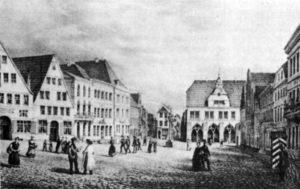 Marktplatz_zu_Minden_um_1840
